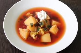 Свекольный суп (пошаговый фото рецепт)