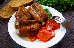 Тушеные ребрышки с морковью (пошаговый фото рецепт)