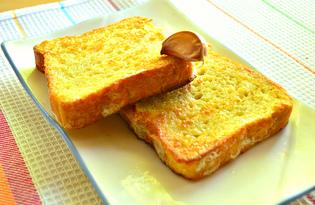 Гренки на сковороде с чесноком (пошаговый фото рецепт)