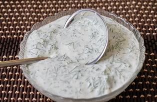 Соус сметанный с укропом (пошаговый фото рецепт)