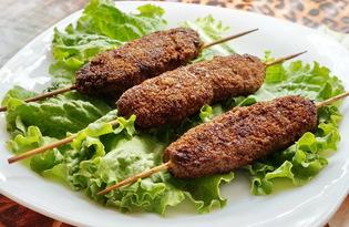 Люля-кебаб в панировочных сухарях (пошаговый фото рецепт)