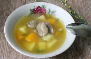 Суп с тыквой и куриной печенью (пошаговый фото рецепт)