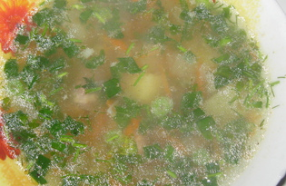 Суп с куриными сердечками (пошаговый фото рецепт)