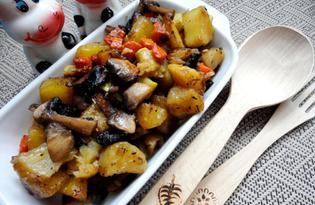 Картофель, жаренный с овощами (пошаговый фото рецепт)