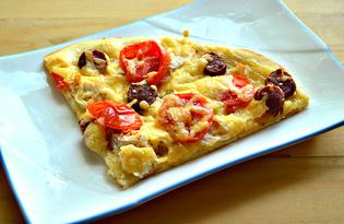 Пицца с охотничьими колбасками (пошаговый фото рецепт)