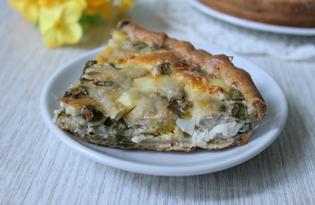 Пирог с рыбой на кефире (пошаговый фото рецепт)
