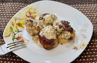 Мясные шарики в сливочном соусе (пошаговый фото рецепт)