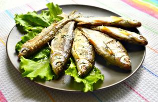 Мелкая речная рыба в духовке (пошаговый фото рецепт)