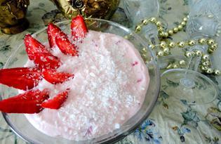 Десерт из творога и клубники (пошаговый фото рецепт)