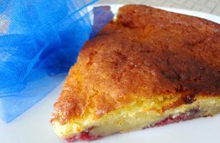 Бисквит с клубнично - творожной начинкой (пошаговый фото рецепт)
