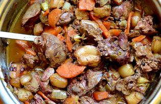 Куриная печень жареная с салом (пошаговый фото рецепт)