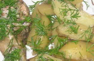 Куриная голень с картошкой в духовке (пошаговый фото рецепт)