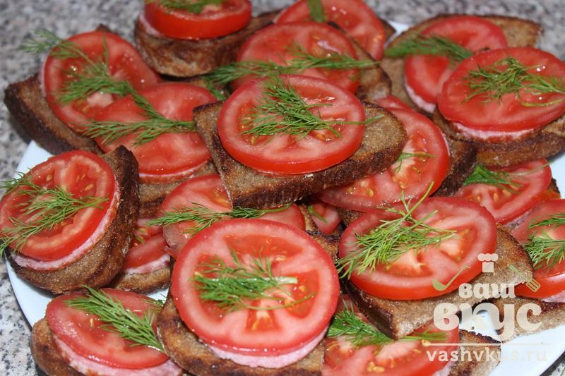 бутерброды из черного хлеба рецепты с фото