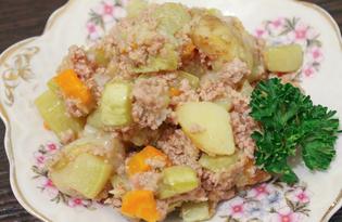 Овощное рагу с фаршем (пошаговый фото рецепт)