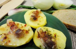 Картофель с подчеревком в духовке (пошаговый фото рецепт)