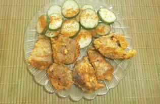 Жареный на сковороде серебристый хек (пошаговый фото рецепт)