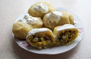 Пызы с яйцом и зеленым луком (пошаговый фото рецепт)