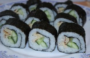 Роллы с огурцом о омлетом (пошаговый фото рецепт)