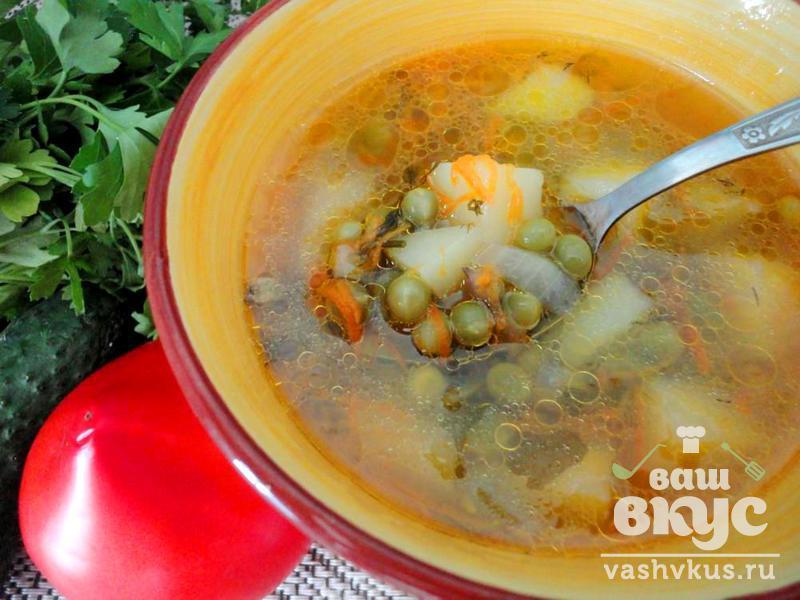 Суп-пюре из зеленого горошка пошаговый рецепт с фото