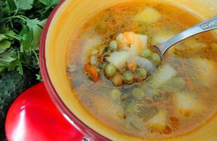 Суп из молодого зеленого горошка (пошаговый фото рецепт)