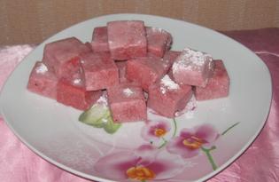 Рахат-лукум клубничный (пошаговый фото рецепт)