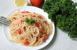 Спагетти с томатами (пошаговый фото рецепт)
