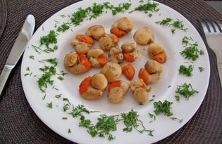 Пряные морские гребешки на сковороде (пошаговый фото рецепт)