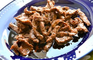 Говядина жареная на сковороде (пошаговый фото рецепт)