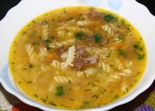 Суп-лапша с тушенкой (пошаговый фото рецепт)