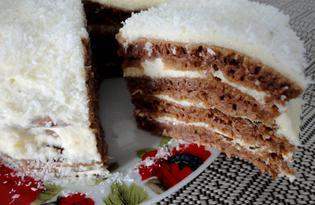 Тортик на сковороде (пошаговый фото рецепт)