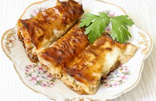 Мясные пирожки из лаваша (пошаговый фото рецепт)
