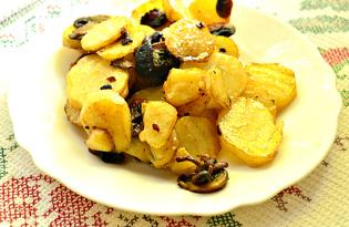 Молодой картофель с шампиньонами (пошаговый фото рецепт)