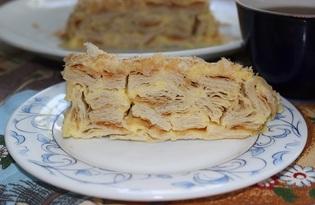 Торт а-ля Наполеон с заварным кремом (пошаговый фото рецепт)