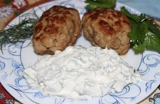 Котлеты с соусом из кинзы (пошаговый фото рецепт)