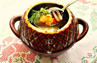 Шампиньоны с овощами в горшочке (пошаговый фото рецепт)