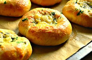 Сырные ватрушки с петрушкой (пошаговый фото рецепт)