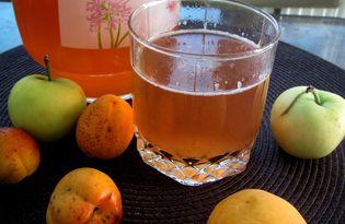 Абрикосово-яблочный компот (пошаговый фото рецепт)