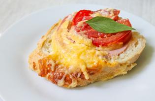 Пирог из горячих бутербродов (пошаговый фото рецепт)