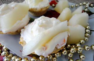 Корзинки с кремом, абрикосом и дыней (пошаговый фото рецепт)