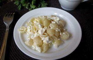 Макароны с творогом на завтрак (пошаговый фото рецепт)