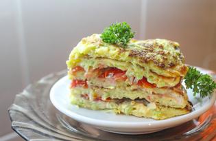 Кабачковый торт с помидорами (пошаговый фото рецепт)