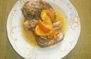 Куриные спинки в рукаве с апельсином (пошаговый фото рецепт)