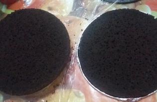 Кофейно - шоколадные коржи для торта (пошаговый фото рецепт)