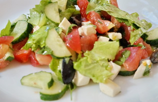 Греческий салат без лука (пошаговый фото рецепт)