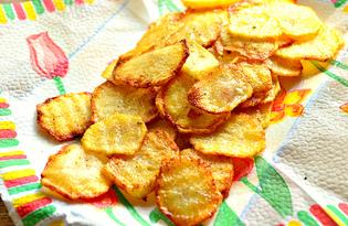 Чипсы из картофеля (пошаговый фото рецепт)