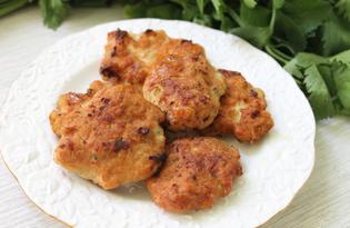 Оладьи из куриного фарша (пошаговый фото рецепт)