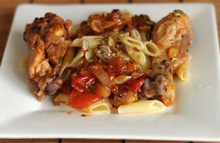 Тушеная курица с томатами и луком (пошаговый фото рецепт)