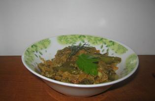 Спаржевая фасоль в сметане (пошаговый фото рецепт)