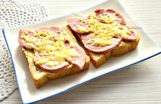 Быстрые горячие бутерброды в микроволновке (пошаговый фото рецепт)