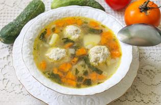Суп с фрикадельками и сельдереем (пошаговый фото рецепт)